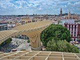 View from the Top of Metropol Parasol Structure  Seville  Spain