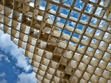 Grid of the Top of Metropol Parasol Structure  Seville  Spain