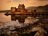 An Ancient Castle Beside a Loch in Scotland
