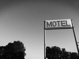Motel Sign in Black and White  Page  Arizona