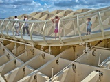 Walkway on the Top of Metropol Parasol Structure  Seville  Spain