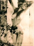 Nude Non-Human Model with Arms Covering Upper Face  Toned