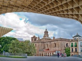 Anunciacion Church as Seen from Metropol Parasol Building  Seville  Spain