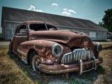 Red Buick Papier Photo par Stephen Arens