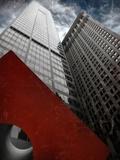 Isamu Noguchi's Red Cube Papier Photo par Andrea Costantini