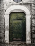 Green door in Penne