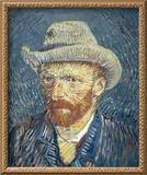 Self Portrait with Felt Hat  1887-88 (Oil on Canvas)