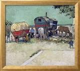 The Caravans  Gypsy Encampment near Arles