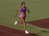 Black Woman During Training Run