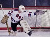 Ice Hockey Goalie in Action