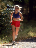 Female Runner Out on the Trails