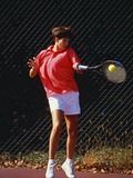 Woman Tennis Player in Action