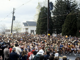 Start of the 1981 Boston Marathon in Hopkinton  MA
