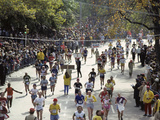 Runners in Central Park During the 1982 New York City Marathon