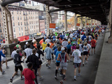 Runners Crossing the 59th Street Queensboro Bridge During the 2009 New York City Marathon