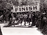 Runners Approaching the Finish Line in Central Park During the 1972 New York City Marathon