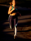 Young Woman Running for Exercise