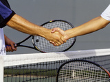 Post Tennis Match Hand Shake