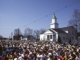 Start of the 1990 Boston Marathon in Hopkinton  MA