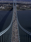 Runners Crossing the Verrazano Bridge after Starting the 1999 New York City Marathon