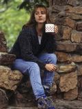Female Hiker Taking a Break with a Warm Drink