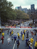 Runners Approaching the Finish Line in Central Park for The1981 NYC Marathon
