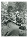 Mt Hood  Oregon - Woman with Large Leaf Photograph