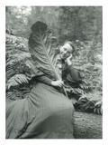 Mt Hood  Oregon - Woman with Large Leaf Photograph