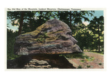 Lookout Mountain  Tennessee - View of the Old Man of the Mountain Rock Formation