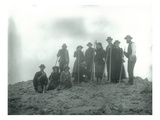 Mt Hood  Oregon - Hikers with Climbing Gear Photograph