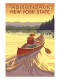 The Adirondacks  New York State - Canoe Scene