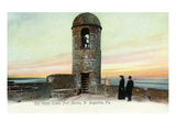 St Augustine  Florida - Fort Marion Watchtower Scene