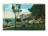 Santa Catalina Island  California - Hotel St Catherine View of New Casino