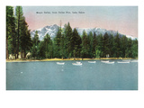Lake Tahoe  California - Tallac Pier View of Mount Tallac