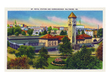 Baltimore  Maryland - Mt Royal Station and Surrounding Grounds View