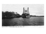 Miami  Florida - Boat on the Miami River