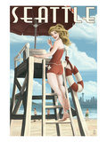 Lifeguard Pinup Girl - Seattle  WA