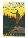 Copperhill  TN and McCaysville  GA - Fisherman Scene