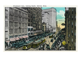 Detroit  Michigan - Woodward Avenue South Scene