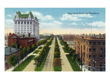 Winnipeg  Manitoba - Fort Garry Hotel Exterior  Broadway Scene