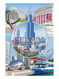 Chicago  Illinois - The Windy City Scenes