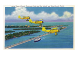 Florida - Planes Flying over Causeway  Miami Beach