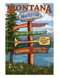 Whitefish  Montana - Sign Destinations