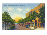 Eustis  Florida - View Down Magnolia Avenue