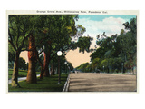 Pasadena  California - Millionaire Row  Orange Grove Avenue