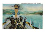 Santa Catalina Island  California - View of Steamer Leaving Island