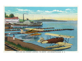 Lake Winnepesaukee  New Hampshire - Seaplanes at the Weirs