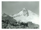Mt Hood  Oregon - Hikers with Horses Photograph