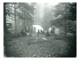 Mt Hood  Oregon - Camping Scene with Carriage Photograph