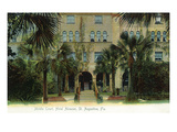 St Augustine  Florida - Hotel Alcazar Middle Court Scene